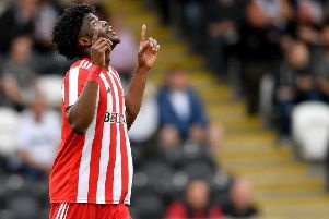 Josh Maja celebrates a goal for Sunderland - could the striker be on his way to Celtic? Picture: JPIMedia