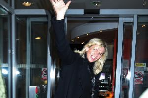 Zoe Ball arrives at Wogan House in London for her first morning hosting the BBC 2 Breakfast Show (Picture: Yui Mok/PA)
