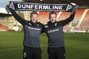 Stevie Crawford, right, is the new Dunfermline head coach and Greg Shields is his assistant. Picture: Paul Devlin/SNS