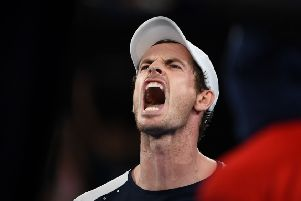 Andy Murray show his emotion during his thrilling but ultimately unsuccessful comeback from two sets down against Roberto Bautista Agut in Melbourne.