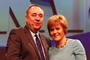 Alex Salmond and Nicola Sturgeon. Picture: Andrew Milligan/PA Wire
