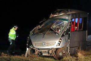 A 60-year-old minibus driver has been killed in a crash near Perth. Picture: Andrew Milligan/PA Wire