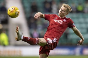 New York City FC target Gary Mackay-Steven has been offered a lucrative new deal by Aberdeen to extend his two-year stay at Pittodrie. Picture: SNS.