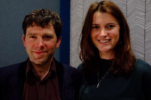 Good-Loop's chief technical officer Daniel Winterstein and chief executive Amy Williams