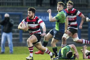 Scrum-half Peter Jerecivich crossed the line twice for Stirling County. Picture: SNS/SRU.