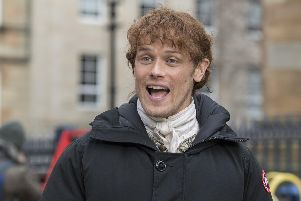 Sam Heughan stars as Jamie Fraser in popular TV series, Outlander (Photo: John Devlin / TSPL)