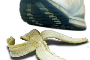 Bananas can be slippery things (Picture: Dave Hamburgh)