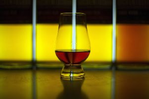 A glass of single malt Scotch whisky produced at the Auchentoshan Distillery. Picture: Andy Buchanan/Getty Images