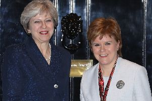 Nicola Sturgeon and Theresa May on the steps of 10 Downing Street in 2017 (Picture: Dan Kitwood/Getty)