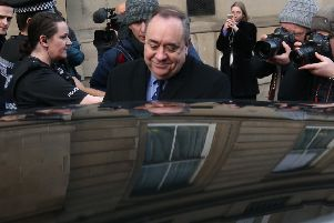 Alex Salmond leaves Edinburgh Sheriff Court