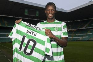 Vakoun Issouf Bayoh has been warmly welcomed by Celtic fans. Picture: SNS.