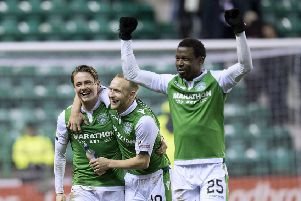 Scott Allan, Dylan McGeouch and Efe Ambrose. Pic: SNS
