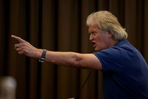 Chairman of JD Wetherspoon, Tim Martin, last week toured his pubs distributing 'circle of deceit' leaflets
