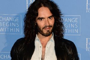 Russell Brand says he is 'not so good on the nappies and making sure they eat food', arousing the wrath of Aidan Smith (Picture: Frazer Harrison/Getty)