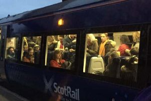 The survey showed a significant decline in passengers' satisfaction with ScotRail. Picture: @Gazzadaz/Twitter