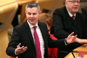 Economy secretary Derek Mackay delivers the Scottish Government's Stage 1 budget at the Scottish Parliament this week. Picture: PA