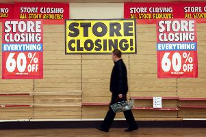 WOOLWORTHS GALASHIELS CLOSURE ,   WOOLWORTHS IN GALASHIELS CLOSES TODAY.   PHOTO  PHIL WILKINSON  / TSPL   'People shopping