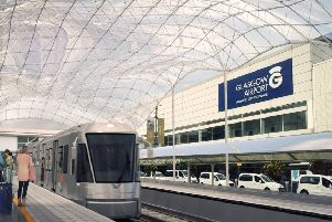 An artist's impression of the proposed rail link that would have connected Glasgow Airport and the city centre. Picture: Contributed