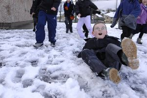 Thousands of pupils have been off school due to the weather. Picture: TSPL