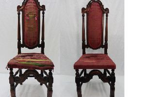 Bonnie Prince Charlie's chair pictured before and after the restoration. PIC: Contributed.