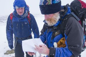 Andy Nisbet (right) and Steve Perry were described as experienced mountain climbers