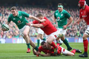 Chris Farrell of Ireland will line up against Scotland on Saturday. Picture: Julian Finney/Getty Images