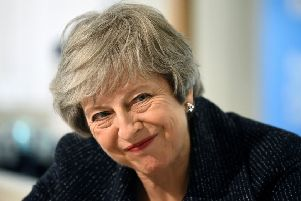 Prime Minister Theresa May vows to take the UK out of the EU on time. Picture: Clodagh Kilcoyne/PA Wire