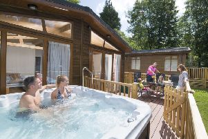 Tummel Valley near Pitlochry will receive an extra �158,000 to add hot tubs to existing riverside lodges. Picture: Contributed