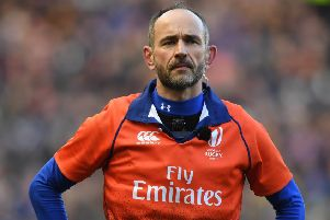 Referee Romain Poite. Pic: SNS/SRU Gary Hutchison