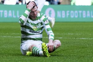 Oliver Burke suffered an injury during Celtic's 5-0 win over St Johnstone. Picture: SNS Group