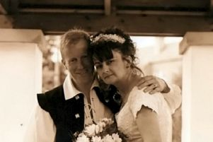 Douglas Cassells with his late wife Rachel Cassells. Mrs. Cassells died on April 2, 2015, after a bus collided with her at her place of work. Picture: SWNS