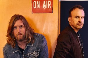 Andy Burrows and Matt Haig. Picture: PA