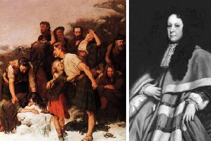 The role of John Dalrymple, 1st Earl of Stair (right), in the Glencoe Massacre led him to be known as the 'Curse of Scotland'. PIC: Creative Commons.