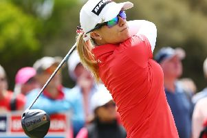 England's Jodi Ewart Shadoff shares the lead after the opening round in the Australian Women's Open in Adelaide. Picture: Getty Images