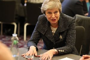 Something to tell us? It's not clear if Theresa May will press ahead with a no-deal Brexit (Picture: Liam McBurney ' WPA Pool/Getty Image)