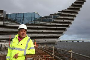 Architect Kengo Kuma at the V&A. Picture: Andrew Milligan/PA Wire