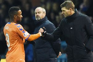 Steven Gerrard could be without Jermain Defoe (left) and Kyle Lafferty this weekend. Picture: SNS