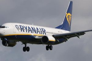 The Ryanair flight was diverted.  Picture: Press Association