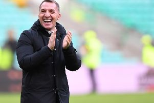 Celtic manager Brendan Rodgers had a dig at the referee following defeat to Valencia. Picture: SNS/Craig Williamson