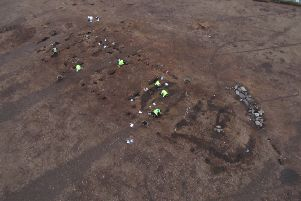 The remains of the largest Neolithic hall found in Britain, which was were discovered in Carnoustie, Angus. PIC: GUARD Archaeology.