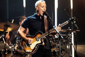Tears for Fears' Kurt Smith was less flashy than Roland Orzabal but both were the picture of stars with a healthy near 40 year success rate. Picture: Dan Reid/REX/Shutterstock