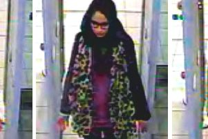 Shamima Begum is caught on CCTV at Gatwick Airport in 2015 as she headed for a flight to Turkey