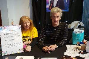 Peter Capaldi signed autographs at a convention in Edinburgh for nine hours  to raise funds for CHAS. Picture: Contributed