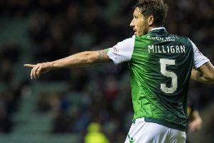 Mark Milligan has expressed his relief at the 'unrest' at Easter Road being brought to an end. Picture: SNS Group