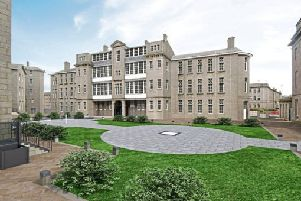 An artist's impression of the planned Scotsman Hotel at the historic Woolmanhill Hospital site in Aberdeen. Image: Contributed