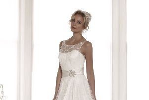 Rachel Scott Couture wedding dressed are being auctioned off for charity. Picture: Contributed