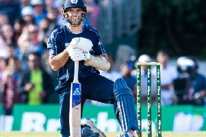 Kyle Coetzer (pictured) and Matt Cross secured the inevitable victory with the help of four fours, including a match-clinching boundary. File picture: SNS Group