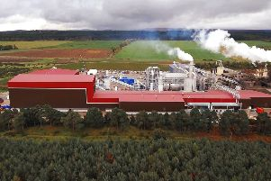 Norbord's latest investment will fund a second wood room, a heat plant and a dryer at its production mill in Morayhill. Picture: Contributed