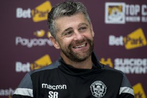 Motherwell manager Stephen Robinson looks ahead to his side's game against Celtic on Sunday. Pic: SNS/Alan Harvey