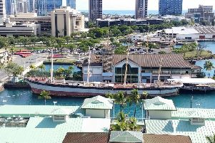The Falls of Clyde ship is currently moored in Hawaii. Picture: SWNS